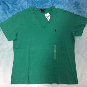 Ralph Lauren Ladies V-Neck Short Sleeves T-shirt